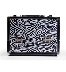 7 Compartment Makeup Case - Zebra Image