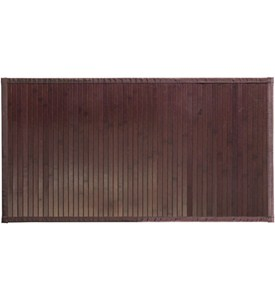 InterDesign Bamboo Bathroom Mat - Mocha Image