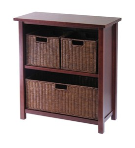 Shelving Unit with Baskets Image