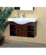 39.4 Inch Single Wall Mount Style Cubby Sink Vanity Wood by Bellaterra Home