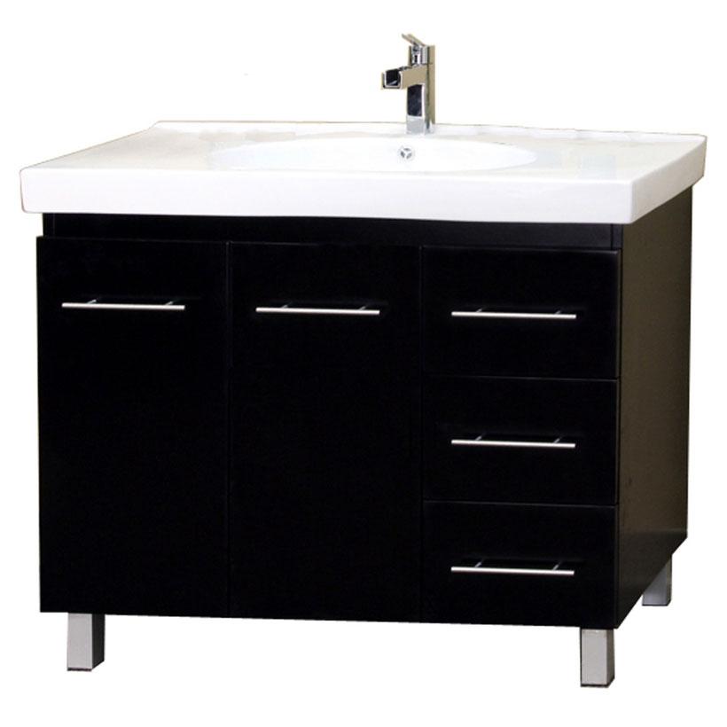 Modern Single Sink Wood Vanity In Bathroom Vanities