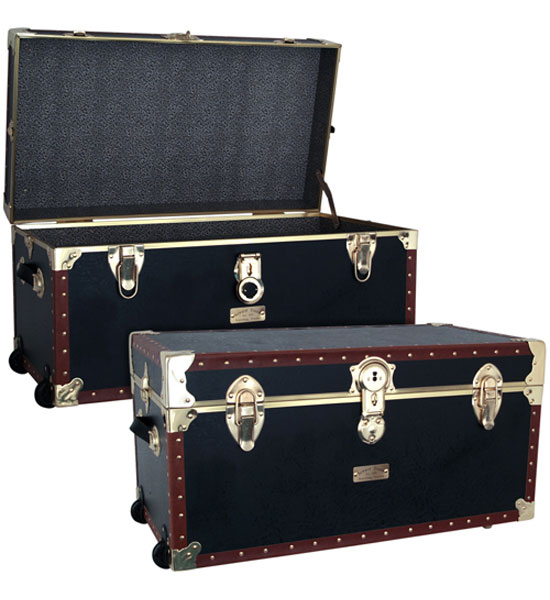Vintage Storage Trunk With Wheels - 31 inch Image