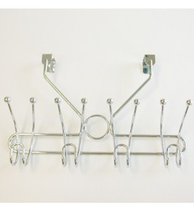 Over the Door Hook Rack - Polished Chrome Image