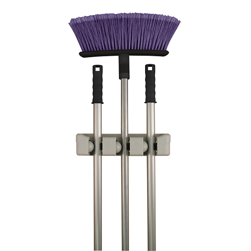 three slot magic mop and broom holder image - Broom Holder