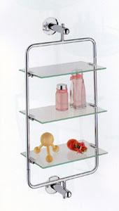 3 tier glass shelf in bathroom shelves. Black Bedroom Furniture Sets. Home Design Ideas