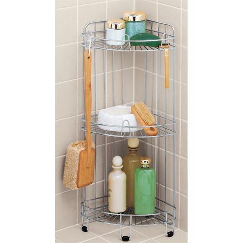 stainless steel corner shower caddy in shower caddies