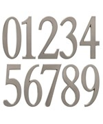 Design-It 4.75 Inch Numbers - Brushed Nickel