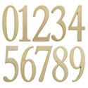 Design-It 4.75 Inch Numbers - Satin Brass