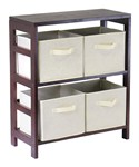 4 Basket Storage Shelf by Winsome Trading