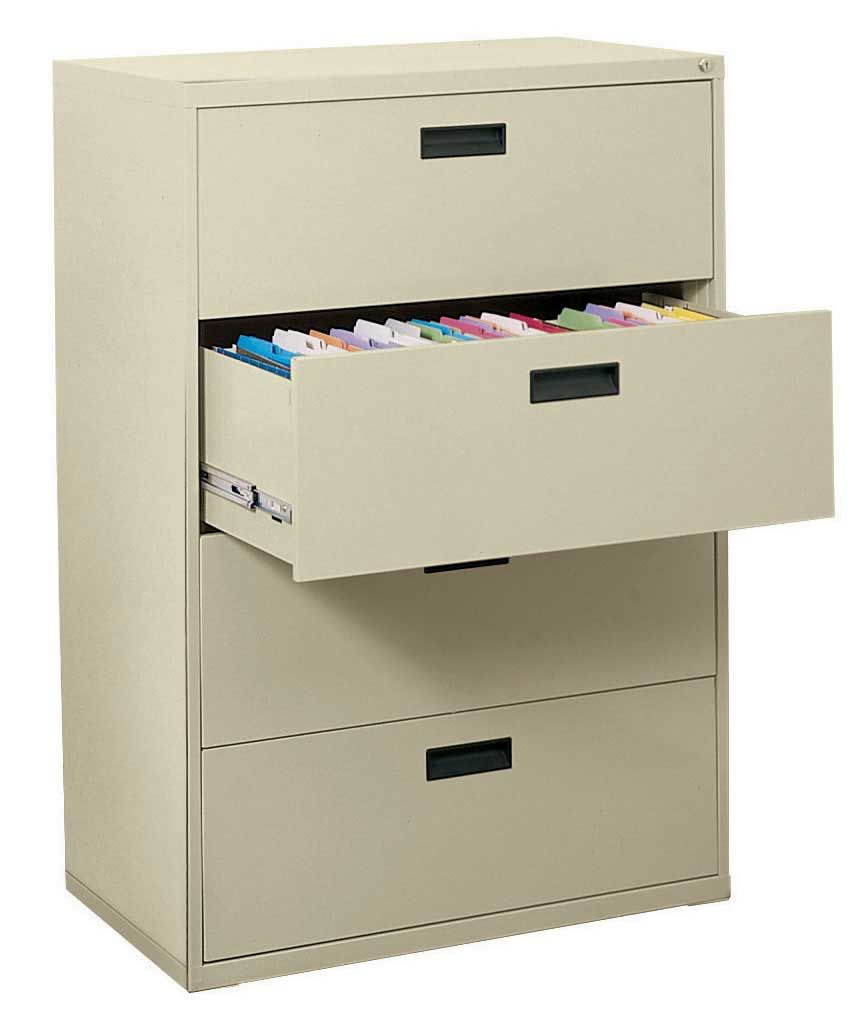 4 drawer lateral file cabinet in file cabinets. Black Bedroom Furniture Sets. Home Design Ideas