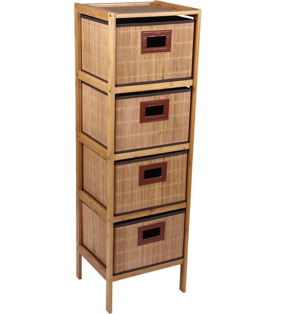 4 drawer storage tower in shelves with baskets. Black Bedroom Furniture Sets. Home Design Ideas