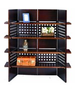 4-Panel Book Shelves Room Divider