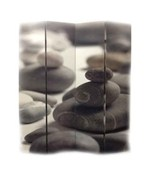 4 Panel Calming Stones Room Divider