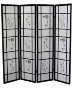 4 Panel Shoji Screen - Black