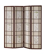 4 Panel Shoji Screen - Cherry