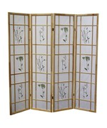 4 Panel Shoji Screen - Natural