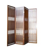4-Panel Wooden Room Divider by O.R.E.