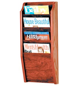 Wooden Magazine Rack - 4 Pocket Image