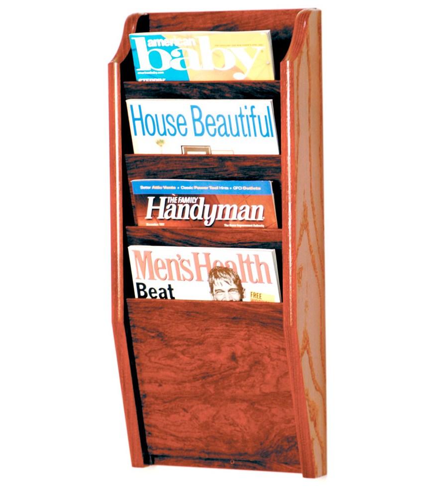 office magazine racks. Wooden Magazine Rack - 4 Pocket Office Racks U