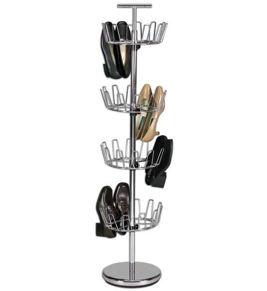 gt; Closet > Shoe Storage > Shoe Racks > Revolving Shoe Rack - Chrome