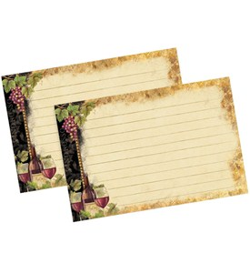 4 x 6 Recipe Cards - Gilded Wine (Set of 36) Image
