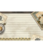 4 x 6 Recipe Cards - Honey and Grey