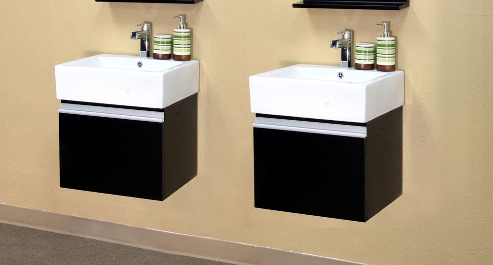 40 6 Inch Floating Modern Double Sink Vanity By Bellaterra Home In Bathroom Vanities