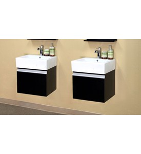 40.6 Inch Floating Modern Double Sink Vanity by Bellaterra Home Image