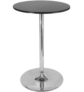 40 Inch Polished Steel Pub Table Image