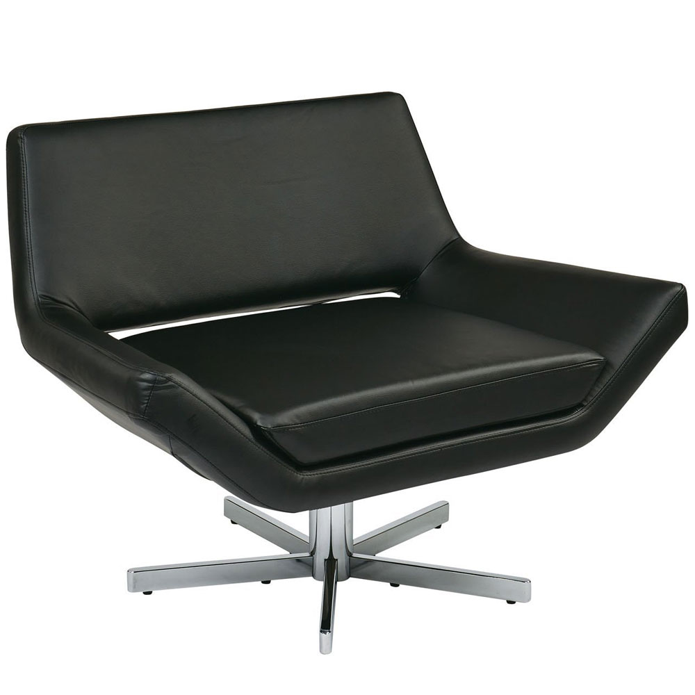 40 Inch Wide Yield Chair In Leather Chairs