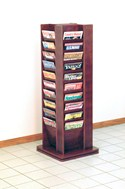 Cascade 40 Magazine Rotary Floor Display by Wooden Mallet