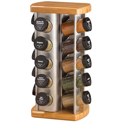 Woodworking Plans For Kitchen Spice Rack: 20 Jar Revolving Spice Rack