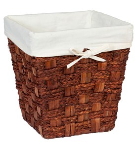Small Wicker Waste Basket - Espresso Image