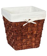 Small Wicker Waste Basket - Espresso