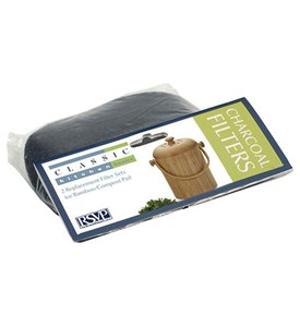 Bamboo Compost Pail Filter Refills (Set of 2) Image