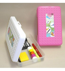 Plastic School Supplies Box Image