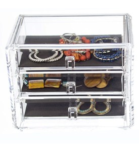 Three-Drawer Acrylic Jewelry Chest Image