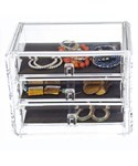 Three-Drawer Acrylic Jewelry Chest