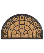 Rubber Back Coir Doormat - Crown