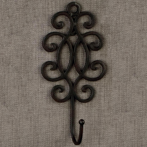 Decorative Wrought Iron Wall Hook In Wall Hooks