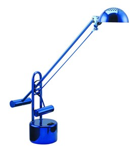 Halotec II Halogen Desk Lamp - Blue Chrome Image