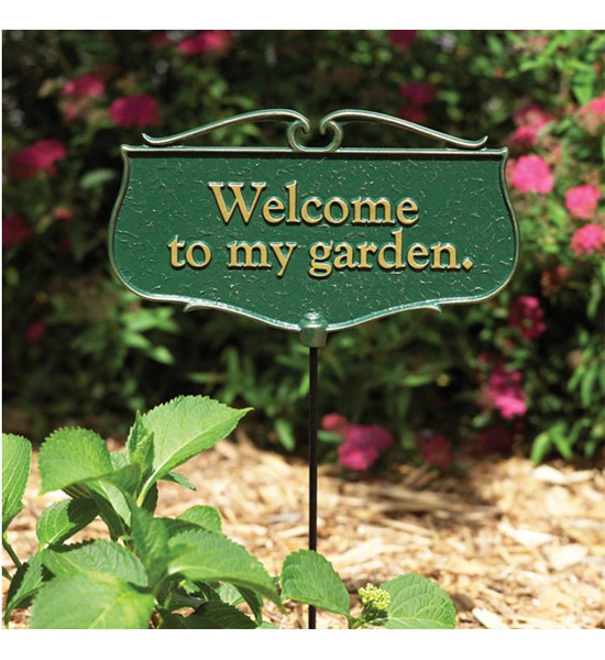 Garden Sign Welcome To My Garden in Garden Accents
