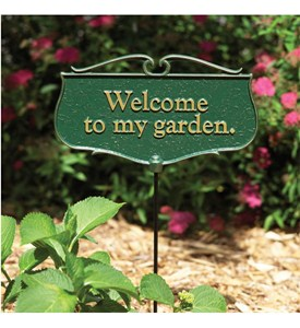Garden Sign - Welcome To My Garden Image
