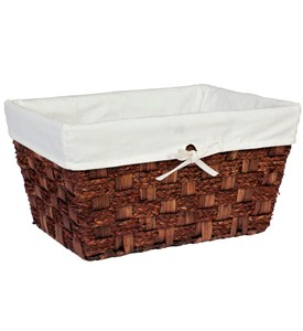 Large Wicker Basket - Espresso Image