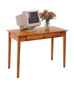 Honey Wood Computer Desk
