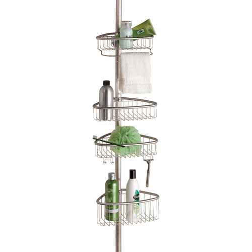 tension pole shower caddy stainless steel in shower caddies. Black Bedroom Furniture Sets. Home Design Ideas