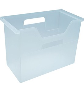 Plastic Hanging File Box - Clear Image