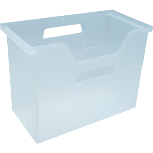Plastic Hanging File Box   Clear Image