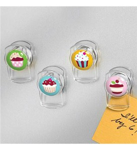 Cupcake Magnetic Clips (Set of 4) Image