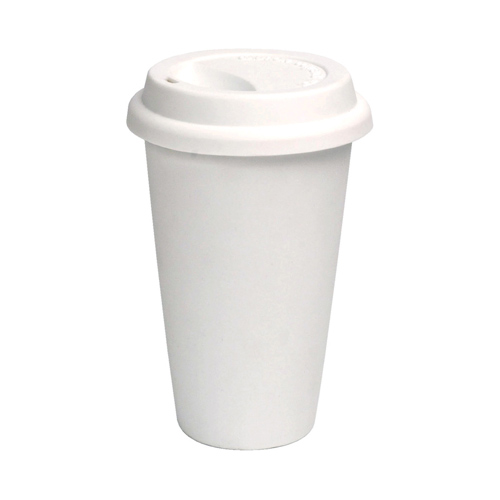 Ceramic Travel Coffee Cup With Lid In Travel Mugs